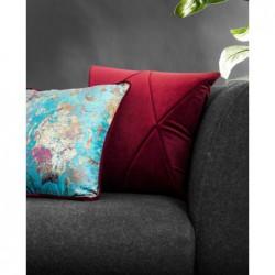 TOUCH+GOLD+PEPITKA bordowo-turkusowy zestaw poduszek dekoracyjnych