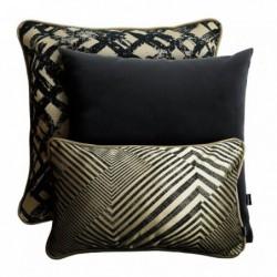 GLAM beżowo-czarny zestaw poduszek dekoracyjnych