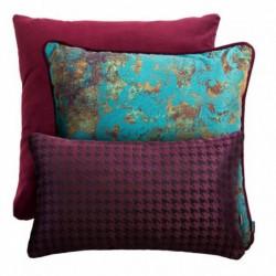 VELVET+GOLD+PIPETKA bordowy zestaw poduszek dekoracyjnych