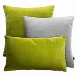 VELVET zielono-szary zestaw poduszek dekoracyjnych