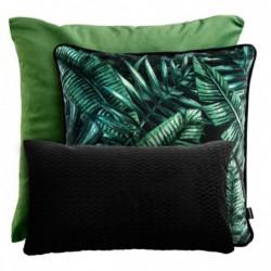 LIŚCIE czarno-zielony zestaw poduszek dekoracyjnych