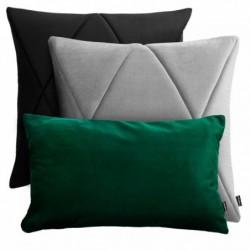 TOUCH czarno-szaro-zielony zestaw poduszek dekoracyjnych