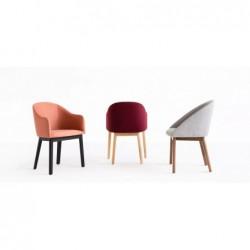 POP A-1901 DĄB krzesło tapicerowane styl mid-century