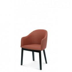 POP B-1901 DĄB krzesło tapicerowane styl mid-century