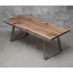 INGENIUM stół drewniany  z żywicą styl industrialny
