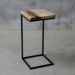 AMO stolik pomocnik drewniany z żywicą styl industrialny