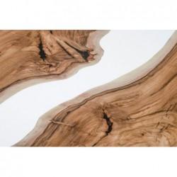ALBA OKRĄGŁY  stół drewniany  z żywicą styl industrialny