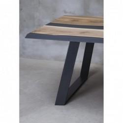 ORNATUS stół drewniany  z żywicą styl industrialny