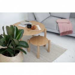 PIANO okrągły stolik kawowy w stylu bauhaus