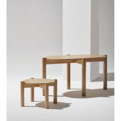PIANO LONG owalny stolik kawowy w stylu bauhaus