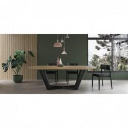TAVOLO OWALNY minimalistyczny stół styl industrialny
