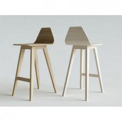 FORM HOKER NISKI krzesło barowe z litego drewna polski design