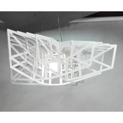 BIAŁA GWIAZDA ażurowa lampa wisząca, polski design