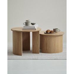 GIRO LARGE okrągły stolik kawowy w stylu bauhaus