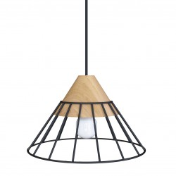 DRUU CZARNA lampa drewniana...