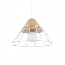 DRUU BIAŁA lampa drewniana wisząca w skandynawskim stylu