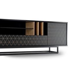 LOWBO BLACK szafka tv  w industrialnym stylu polski design