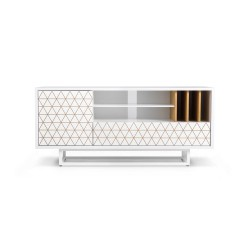 LOWBO WHITE szafka rtv w industrialnym stylu polski design