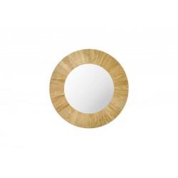 ALICE okrągłe lustro z litego drewna dębowego polski design