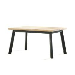 NERO ROZKŁADANY stół z litego drewna dębowego styl skandynawski