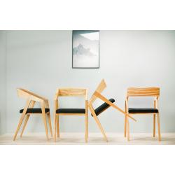 PIKO drewniane krzesło w skandynawskim stylu, polski design