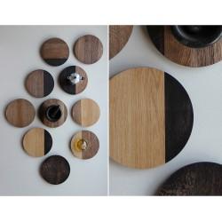 SHADES podstawki z litego drewna, polski design