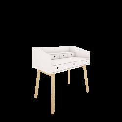 RIVER biurko białe w skandynawskim stylu