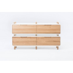 KOMODA LOOP 4 lite drewno dębowe polski design