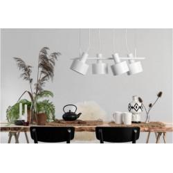 ENKEL 4 BIAŁA lampa sufitowa wisząca styl loftowy
