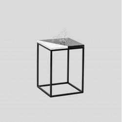 PATTERN CUT stolik pomocnik z kamiennym blatem polski design