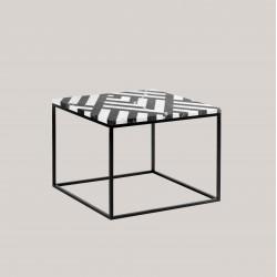 FIR MAXI stolik kawowy z kamiennym blatem polski design