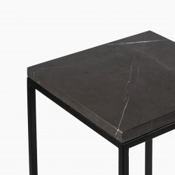 BASIC PILLAR stolik pomocnik z kamiennym blatem polski design
