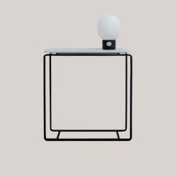 FORM-C konsola z kamiennym blatem polski design