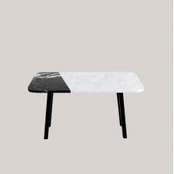 FORM-E stolik kawowy z kamiennym blatem polski design