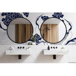 SCANDI okrągłe lustro w stylu skandynawskim