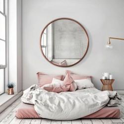 SCANDI MIEDZIANE okrągłe lustro w stylu skandynawskim