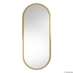 AMBIENT ZŁOTE owalne lustro w skandynawskim stylu