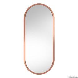 AMBIENT MIEDZIANE owalne lustro w skandynawskim stylu