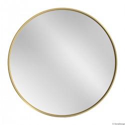 SCANDI SLIM ZŁOTE okrągłe lustro w skandynawskim stylu