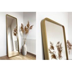 BILLET złote lustro z zaokrąglonymi rogami w stylu skandynawskim