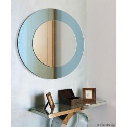 MODERN LINE okrągłe, dwukolorowe lustro w stylu modern