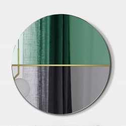 DEMI BUTELKOWA ZIELEŃ okrągłe, dwukolorowe lustro ozdobne