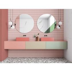 SUNSET okrągłe lustro w stylu modernistycznym