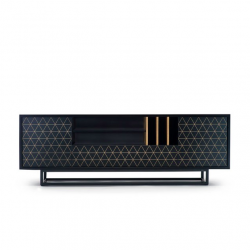 LOWBO BLACK szafka rtv w industrialnym stylu polski design