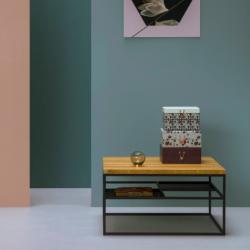 KVADRATOVA duży minimalistyczny stolik kawowy styl loftowy