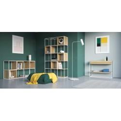 SKINNY XL minimalistyczna konsola z szufladą w industrialnym stylu