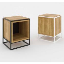 BOXER STOLIK NOCNY minimalistyczny regał stalowy w stylu loftowym