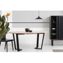 OKRĄGŁY 110 ROZKŁADANY minimalistyczny stół styl industrialny