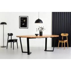OKRĄGŁY 130 ROZKŁADANY minimalistyczny stół styl industrialny