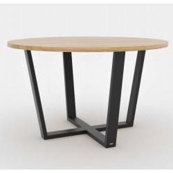 OKRĄGŁY 130 minimalistyczny stół styl industrialny